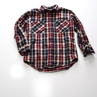 Blue Plaid Flannel for Men / Women by St. John's Bay Size M
