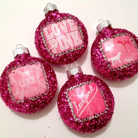 Victoria's Secret PINK Ornament Set 2013