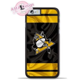 Pittsburgh Penguins Ice Hockey Case For iPhone X 8 7 6 Plus SE Galaxy S8 S7 Edge