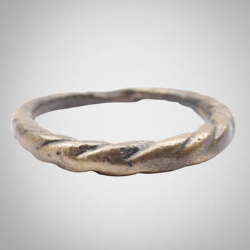 Authentic Ancient Viking Ring Jewelry C.866-1067A.D. Size 9 3/4 (18.9mm)(Brr941)