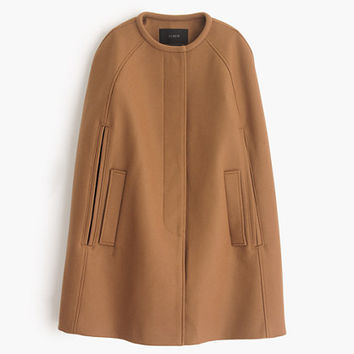 J.Crew Womens Cape Jacket In Wool Melton