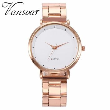 Hot Fashion Women's, Relogio Feminino Dial Quartz, Luxury Rose Gold Steel Watch