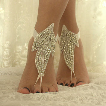 Strasse, Sandals, Wedding Shoes, Wedding Accessories, Wedding Standing, Bridal Ankle, Wedding Accessories,Foot Jewelry