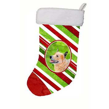 Australian Cattle Dog Candy Cane Holiday Christmas Christmas Stocking LH9227