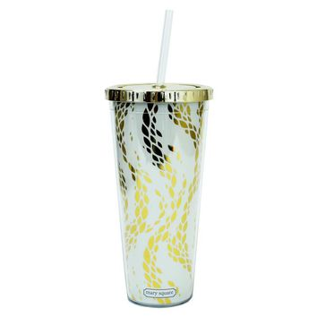 STRAW TUMBLER GOLD LID MOVEMENT