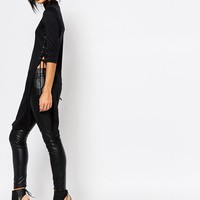 Vero Moda | Vero Moda High Neck Lace Up Top at ASOS