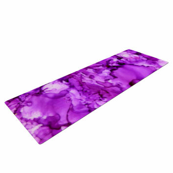 "Claire Day ""Pink"" Magenta Painting Yoga Mat"