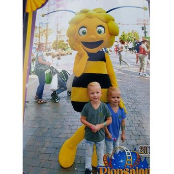 Professional New style Maya the Bee mascot costume Bee Mascot Costume Fancy Dress Adult Size Free Shipping