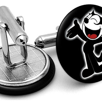 Felix The Cat Cufflinks