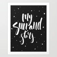 My Sun and Stars  Art Print by Liv B