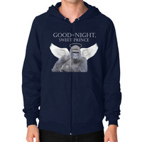 Good-Night, Sweet Harambe Zip Hoodie (on man) Shirt