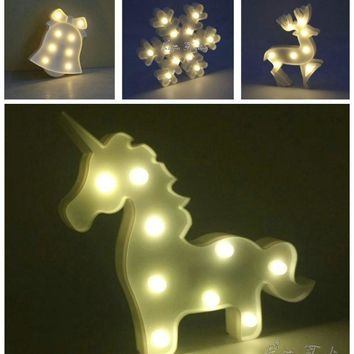 9 Styles Marquee LED Night light