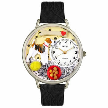 Fox Terrier Watch in Silver (Large)