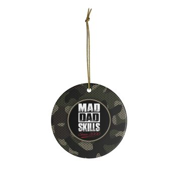 Ceramic Ornaments For Dad - Mad Dad Skills 2000 Ornament Holiday Gift For Father