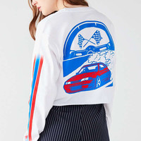 Racing Cropped Long Sleeve Tee | Urban Outfitters