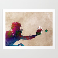 Baseball player 4 #baseball #sport Art Print by jbjart