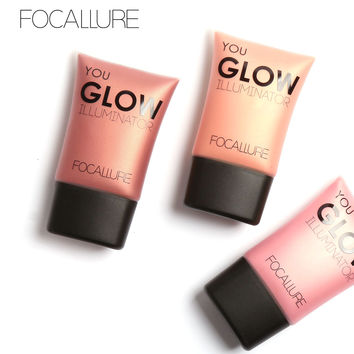 FOCALLURE Highlight Powder Bright Liquid Highlighter Face Brightening Glow Cosmetic Makeup