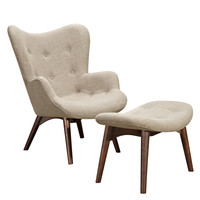 Aiden Chair Oatmeal Gray -Walnut