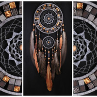 Gray Cooper Dreamcatcher mosaic Dream Catcher Large Dreamcatcher New Dream сatcher gift idea dreamcatcher boho dreamcatcher gift Christmas