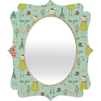 Heather Dutton Bonjour Lapin Quatrefoil Mirror