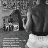 Muhammad Ali in Gym with Mirror Art Print