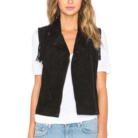 Sanctuary Suede It Vest in Black