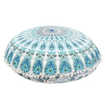 Ouneed Large Mandala Floor Pillows Round Bohemian Meditation Cushion Cover Ottoman Pouf u7104 DROP SHIP