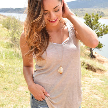 Back Country Tank Taupe