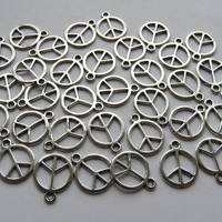 20 Silver Plated Peace Charms €1.50