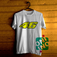 Valentino Rossi 46 Tshirt For Men / Women Shirt Color Tees