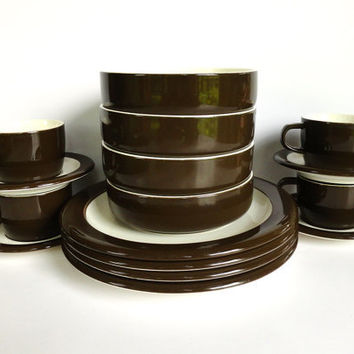 Mikasa Color Complements Coffee Shine Dinnerware set
