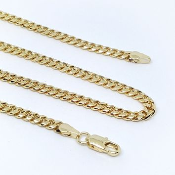1-1641-g7 Gold Plated Cuban Link Chain.