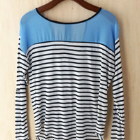 Classic Boat Top with Cut-Out Detail (Look Behind!), Sky Blue