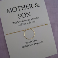 MOTHER and SON Jewelry. Mother Son Necklace. Mother Son. Mother Necklace Gift. Inspirational Jewelry For Mother