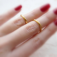 2 Above the Knuckle rings,  Mid knuckle ring, Gold ring, Fashion ring, Wire ring, Fashion ring