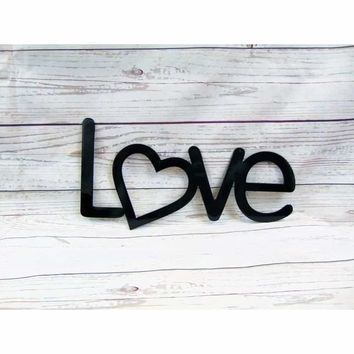Love With Your Heart Metal Wall Art