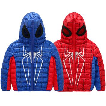HOT 2017 new Fashion Outwear Thicken Down Jackets Hooded Winter Children Jackets For Girls Boys Warm Down Coat For Girl Clothing