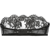 I.D. Sarrieri - Boudoir tulle and Chantilly lace bandeau bra