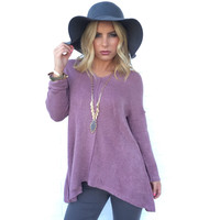 Everything I Hoped For Sweater In Plum