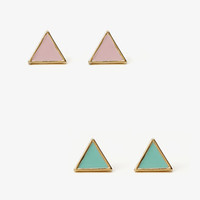Lacquered Triangle Studs