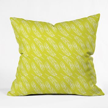 Allyson Johnson Neon Feathers Throw Pillow