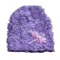 Opentip.com: TopTie Baby Lace Knitted Hat Single Flower Double Flower for Summer / Winter