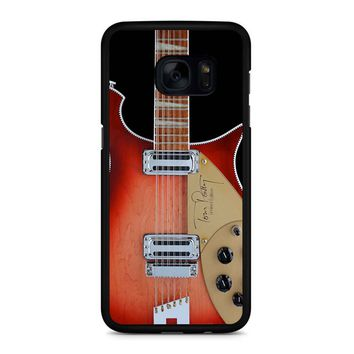 Tom Petty Signature In Fireglo Guitar Samsung Galaxy S7 Edge