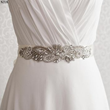 S280 Elegant Crystals Rhinestones Evening Party Prom Gown Dresses Accessories Bride Bridal Sashes Wedding Sashes Belts