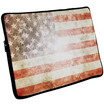 Chenier 4th of July American Flag Star Spangled Banner Laptop Sleeve 17 inch