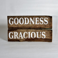 Hand Painted Sign - New Orleans Salvage - Southern - Goodness Gracious - CYBER Monday Etsy