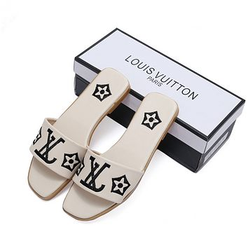Louis Vuitton LV 2019 Women Fashion Flats Slipper Sandals Shoes