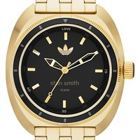 Men's adidas Originals 'Stan Smith' Bracelet Watch, 42mm - Gold/ Black