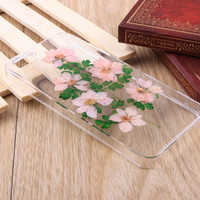 Consolida ajacis pressed flower iPhone case Galaxy case 003
