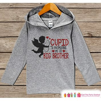 Big Brother Valentine Hoodie - Kid's Valentine's Day Pregnancy Reveal - Valentine's Pregnancy Announcement - Cupid Pregnancy Reveal